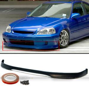 Fits 99-00 Honda Civic 2DR 3DR 4DR JDM Polyurethane T-R Style Front Bumper Lip