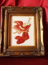 Angel, art, sculpture 2d natural red coral mediterranean, quadri corallo