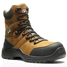 V12 Rocky Full Grain Zip Sided Waterproof Safety Hiker Boot S3 SRC 9