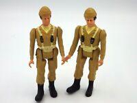 Lot de 2 figurines pvc souple vintage soldat militaire 9cm