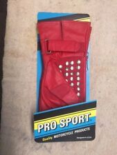 New vintage red leather motorcycle gloves