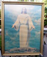 Karl Godwin Vintage Print - Jesus with Open Arms - 1959 Abdington Press Framed