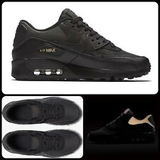 R87 Nike Air Max 90 Premium GS Sz UK 6 EU 39 AH9345-001 Black Metallic Gold