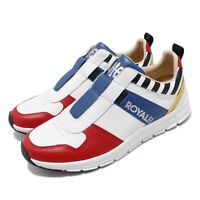 Royal Elastics Rider Retro 1901 White Black Red Blue Men Slip On Shoe 01191-153