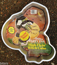 1981 HIGH FLYIN' WITCH ELF PILGRIM WILTON CAKE PAN WITH PAPER INSERT, 502-3398
