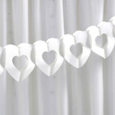 TISSUE GARLAND IVORY HEARTS Chic Boutique Wedding Party Engagement 2.5m Long