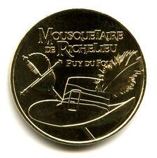 85 LE PUY DU FOU Mousquetaire, Chapeau et épée, 2016, Monnaie de Paris