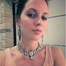 Crystal Diamond Drop Choker Collar Pendent Necklace Jewelry Dress Accessory UK