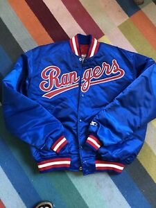 Vintage Texas Rangers Starter Jacket MLB Satin Coat Large Diamond Collection