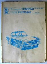 TRIUMPH TR6 - Car Parts Catalogue - Apr 1974 - #RTC9093 - Multilingual