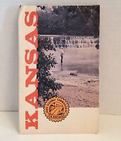 Vintage Map Kansas 1973 State Highway Road Map Travel