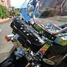 Harley Davidson Moto Cuir Outil Rouleau Sacoche Pochette Sac Avec Clous C3BC
