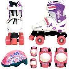Rollers et patins roses enfants
