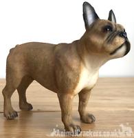 Fawn French Bulldog Frenchie ornament figurine sculpture Leonardo, gift boxed