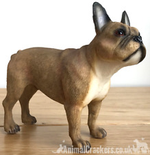 More details for fawn french bulldog frenchie ornament figurine sculpture leonardo, gift boxed