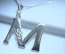 "Celtic Style Letter ""M"" Pendant 925 Sterling Silver Corona Sun Jewelry m"