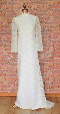 Genuine Vintage Wedding Dress Gown 60s Retro Victorian Edwardian Style UK 10