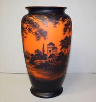 Antique Art Glass French Cameo Vase – Richard - Castle at Lake Scene - Beautiful