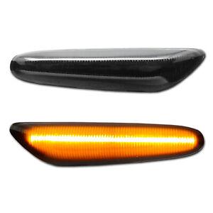SCHWARZE LED Seitenblinker BMW 1 E81/82/87/88  3 E90/91/92/93 X1 E84 Alpina B3
