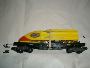 American Flyer 25515 rocket sled and flatcar