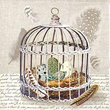 4x Paper Napkins -Birds Nest- for Party, Decoupage Craft