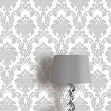 ROMEO DAMASK WALLPAPER ROLLS - GREY - ARTHOUSE 693503 NEW SILVER