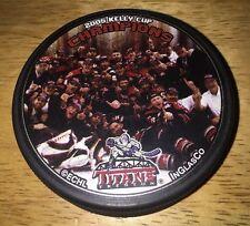 ECHL KELLY CUP 2005 CHAMPIONS CHAMPS TRENTON TITANS Team Photo Hockey PUCK