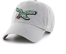 8ac0dca42d6 Philadelphia Eagles  47 BRAND Clean up Throwback Logo Adjustable Hat - Gray