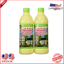 Nellie & Joes Famous Key West Lemon & Lime Pies Juice  16oz TWIN PACK 2 NEW