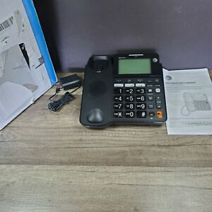 AT&T CD4930 Corded Phone With Answering System and Caller ID Black
