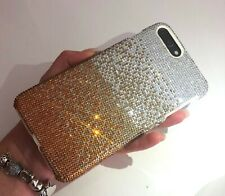 iPhone X/XS Bling Case Made with Swarovski Crystals Faded Gold Rhinestones Cover