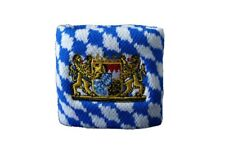 Schweißband Fahne Flagge Deutschland Bayern mit Löwe 2er Set - 7x8cm Armband für