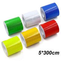 5*300cm Car Reflective Strip Stickers Warning Tape DIY Reflector Decor Decals