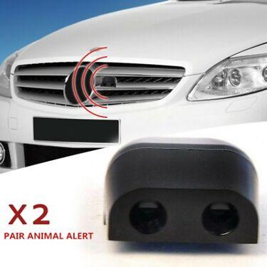 2pcs Black Sonic Gadgets Car Grille Mount Animal Whistle Repeller Alert Deer New