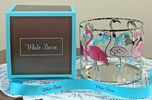 Bath & Body Works Candle Holder Large 3 Wick Sleeve Pink Flamingo Gift Boxed