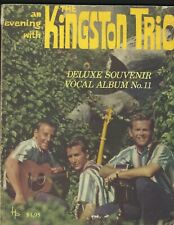 1960's An Evening With The Kingston Trio Deluxe Souvenir Vocal Album Songbook