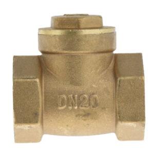 Horizontal Female Thread Brass Single Way Check Valve DN20 3/4 inch