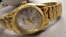 "Affinity ladies watch beautiful gold tone looks unworn 6.5"" stretch New battery"