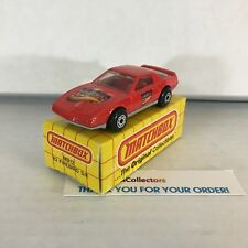'82 Firebird S/E MB12 * RED Maaco Promo Car * Matchbox w/ Box * WE11