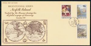 Mayfairstamps Norfolk Island FDC 1987 Earth La Perouse Ship Combo First Day Cove