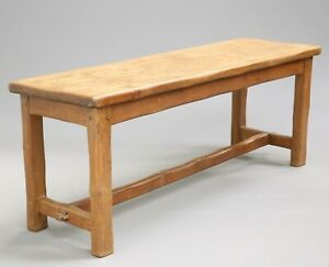 19th C Period Long Dining Kitchen Table English Oak Farmhouse Refectory Table