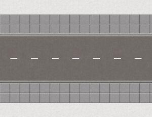 S Scale Roads Model Train Scenery Sheets Passing Dash White City - Five 8.5x11
