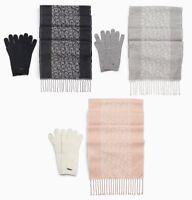 NWT Calvin Klein Monogram Logo Women's Scarf + Glove Set (Choose Color) $58
