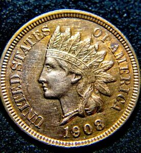 """1908 IHP/ """"SCRATCHED"""" *PROOF-LIKE GLO*/ 4 DEEP DIAMONDS /""""AWESOME DETAILS ONLY"""""""
