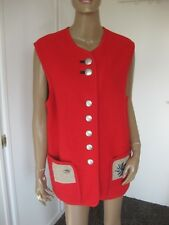 Stapf tolle Jacke/ Trachtenjacke / Weste Gr. 44 Schurwolle ohne Arm rot