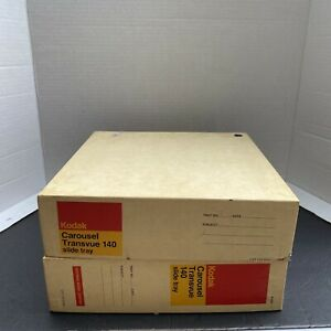 2 Kodak Carousel 140 Slide Trays/Original Boxes Preowned