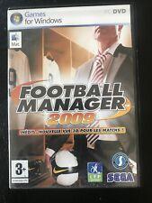 Jeu PC -  FOOTBALL Manager 2009 - Sega- COMPLET  FR