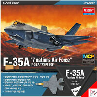 "Academy 1/72 F-35A ""7 Nations Air Force"" MCP Hobby Plastic Model Kit #12561 New"