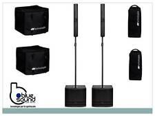 2X 2 PEZZI  DB TECHNOLOGIES ES 802 SISTEMA AUDIO AMPLIFICATO  2400W + CUSTODIE