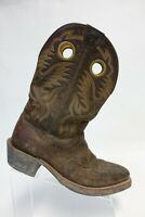 ARIAT Heritage Brown Sz 10 EE Wide Men RoughStock Leather Square-Toe Cowboy Boot